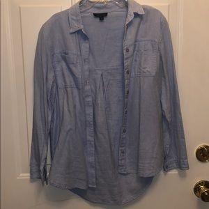 Topshop button up blue shirt